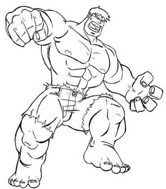 Hulk Coloring Page For Avengers Fans