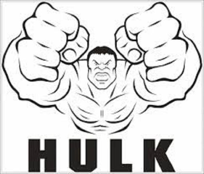 Hulk Coloring Pages Easy