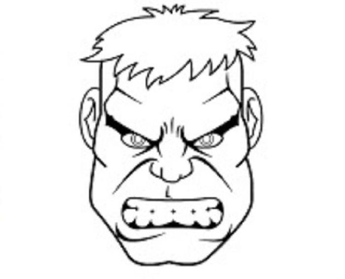 Hulk Face Coloring Pages