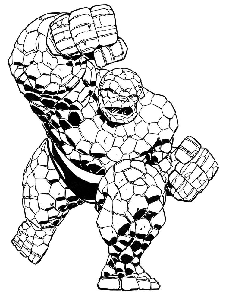 Hulk Lego Marvel Coloring Pages 1
