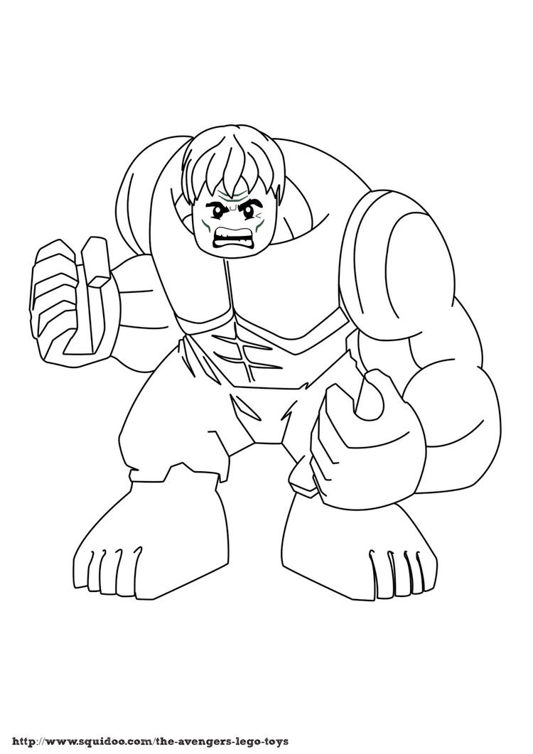 Hulk Lego Marvel Coloring Pages
