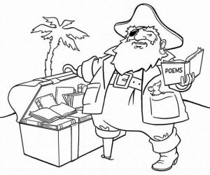 Hunting pirate treasure coloring pages