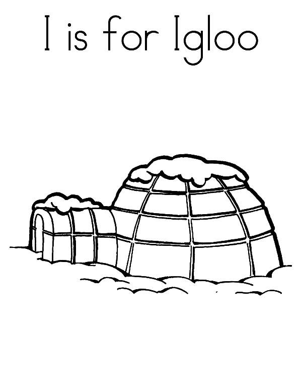 I Is For Igloo Coloring Pages