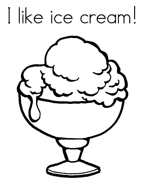 I Like Ice Cream Coloring Pages