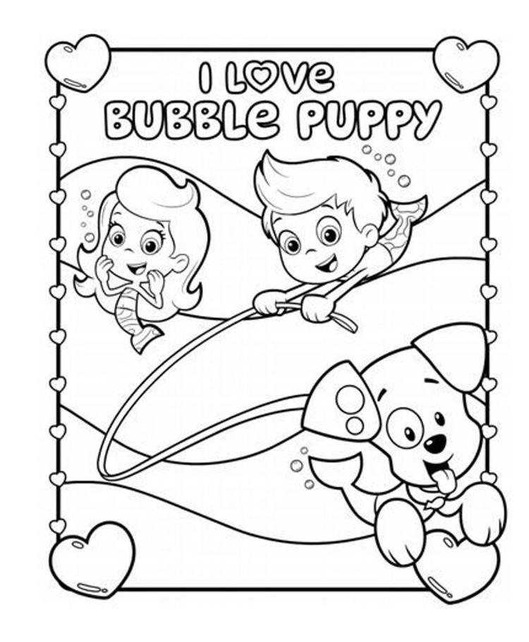 I Love Bubble Guppies Coloring Pages
