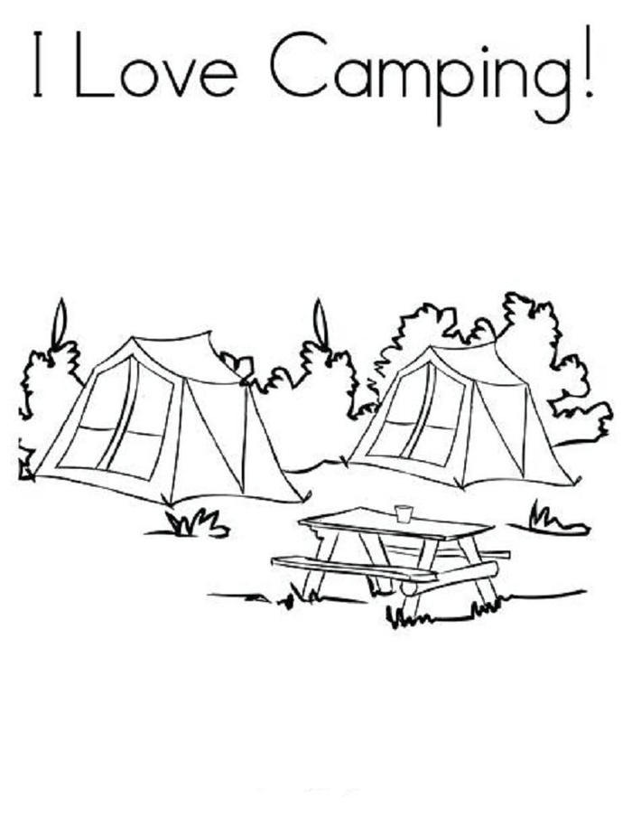 I Love Camping Coloring Pages