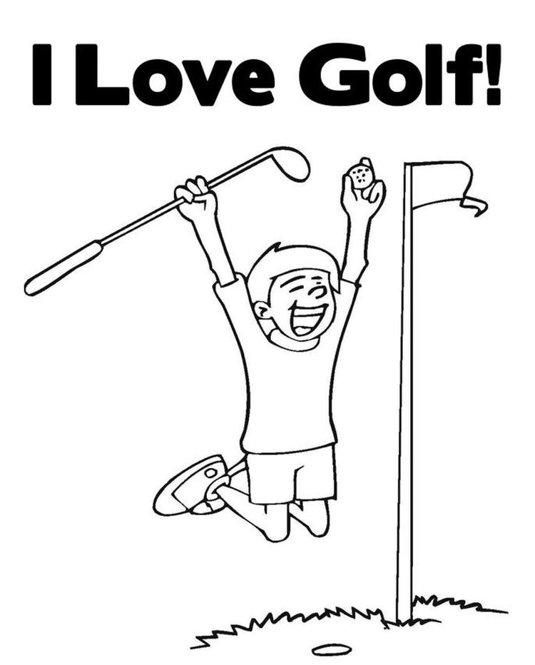 I Love Golf Sports Coloring Pages