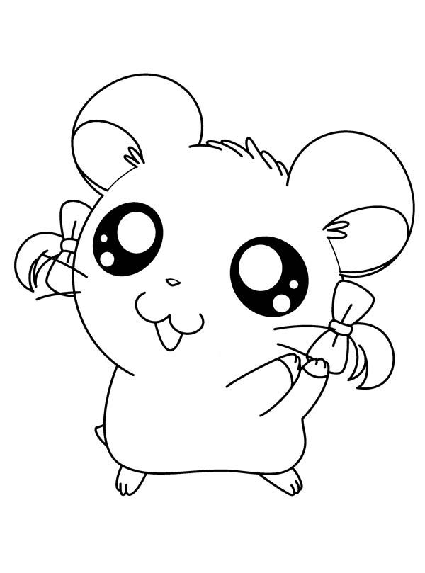 I Love Hamtaro Coloring Pages