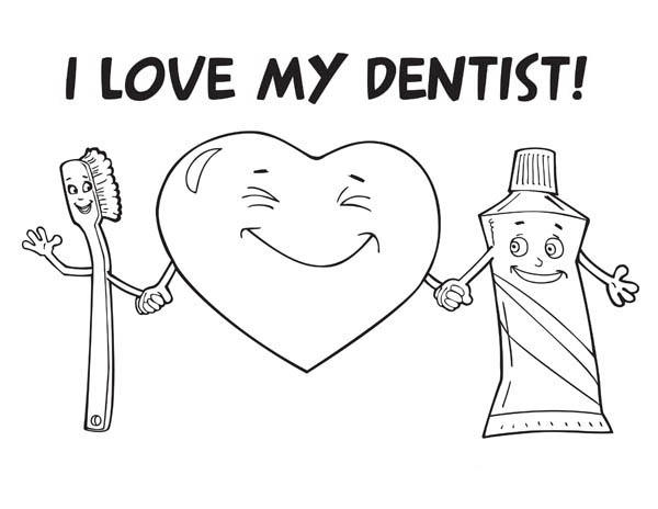 I Love My Dentist Coloring Pages