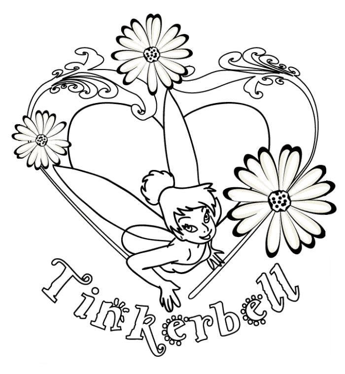I Love Tinkerbell Coloring Page