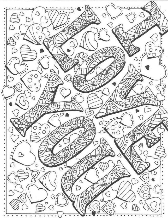 I Love You Art Coloring Pages
