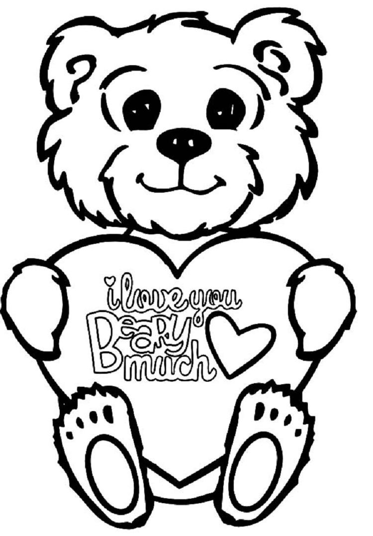I Love You Bear Coloring Pages