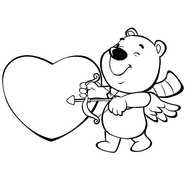 I Love You Coloring Pages Cupid Arrow