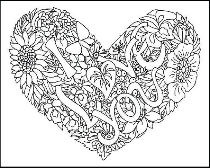 I Love You Coloring Pages For Girlfriend