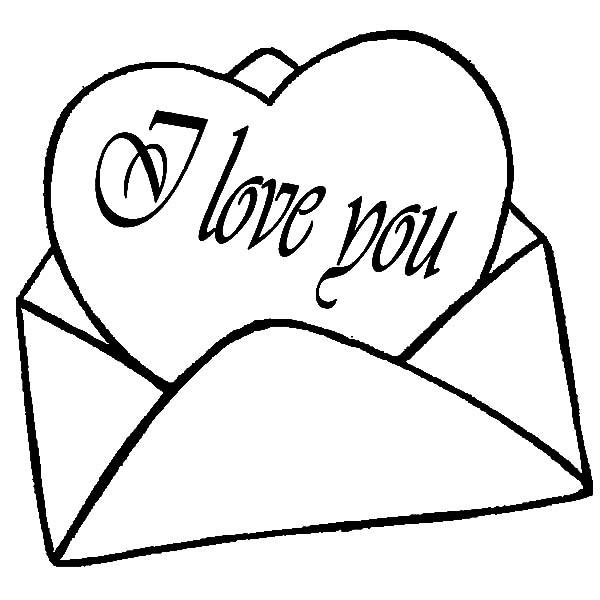 I Love You Coloring Pages Love Letter