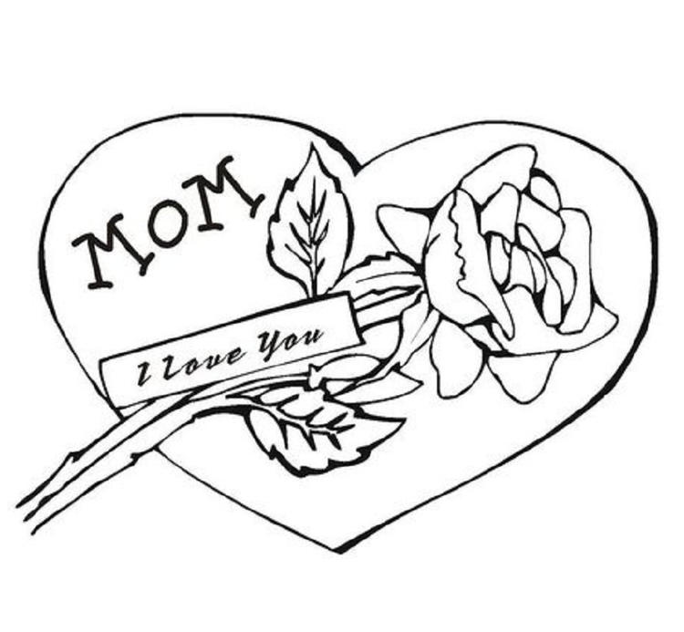 I Love You Coloring Pages Mothers Day