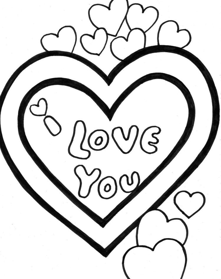 I Love You Coloring Pages Valentine
