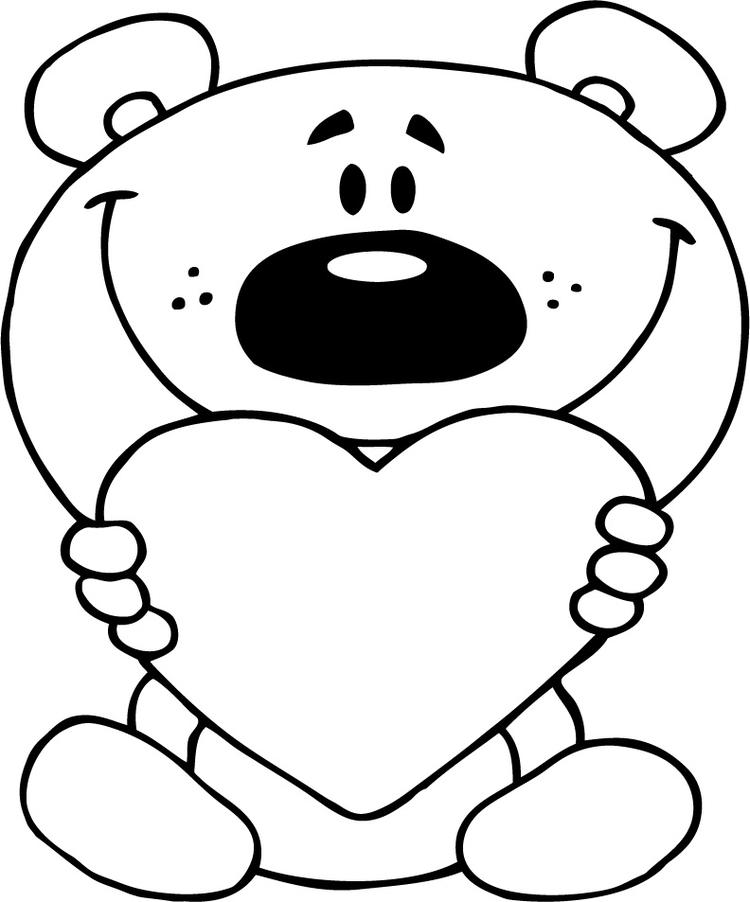 I Love You Coloring Pages With Teddy Bear