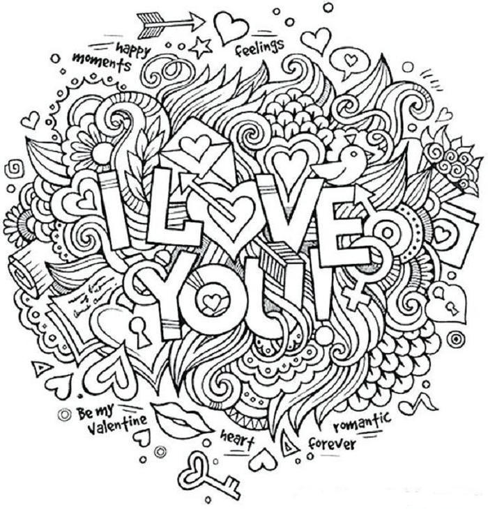 I Love You Printable Coloring Pages