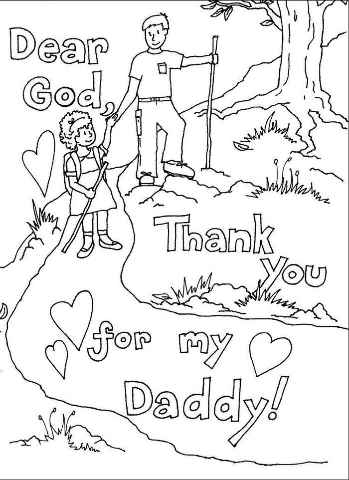 I Miss You Fathers Day Coloring Pages