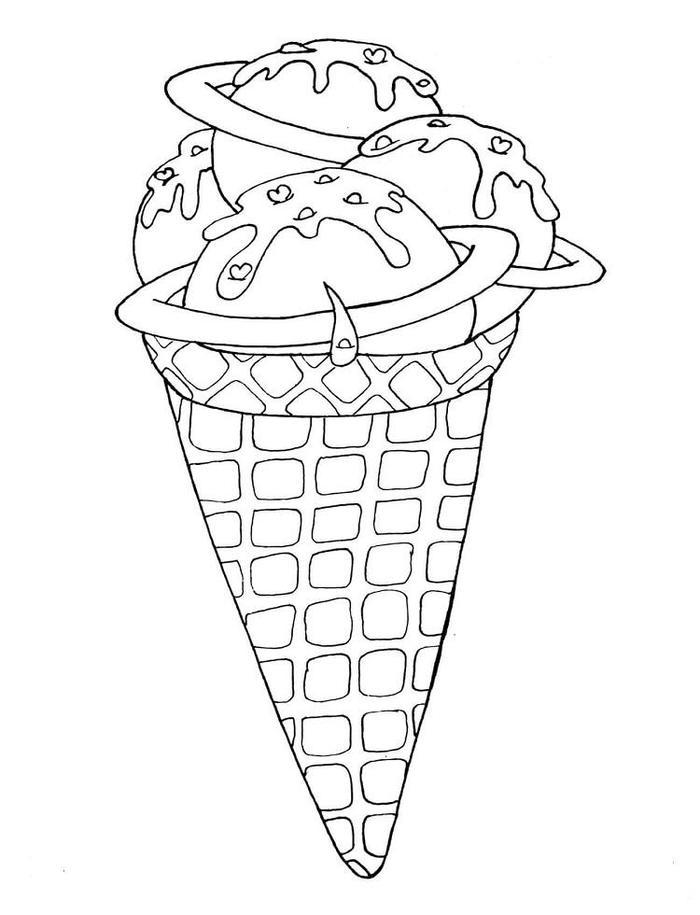 Ice Cream Dessert Coloring Pages