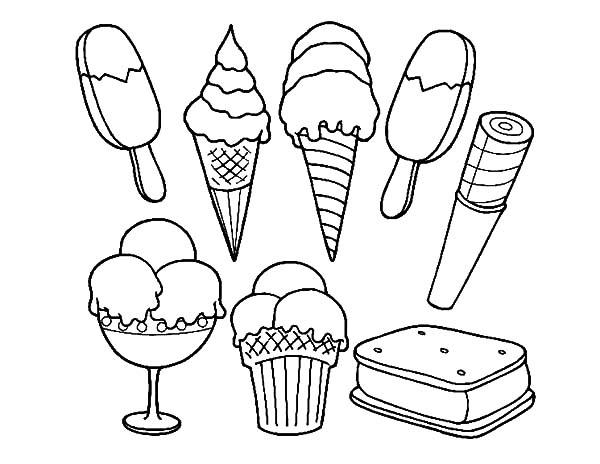 Ice Cream Sandwich Coloring Pages