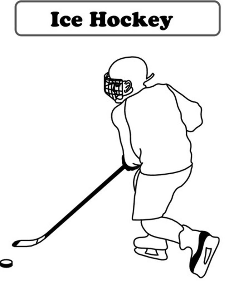 Ice Hockey Coloring Pages