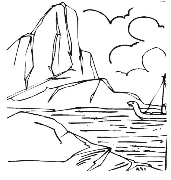 Iceberg Coloring Picture For All Ages