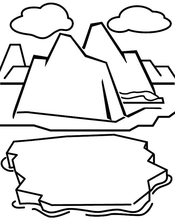Iceberg Cracking Coloring Pages
