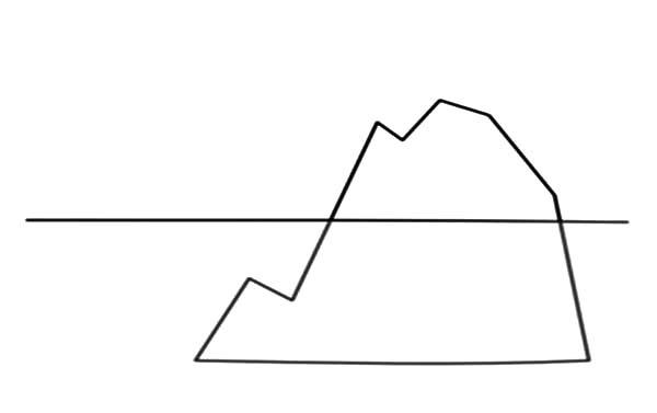 Iceberg Outline Coloring Pages