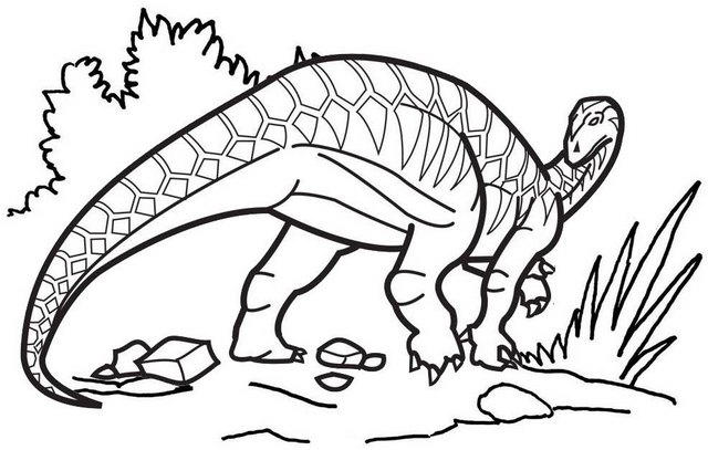 Iguanodon The Lost World Coloring Page