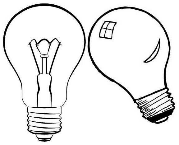 Incandescent Light Bulb Coloring Page