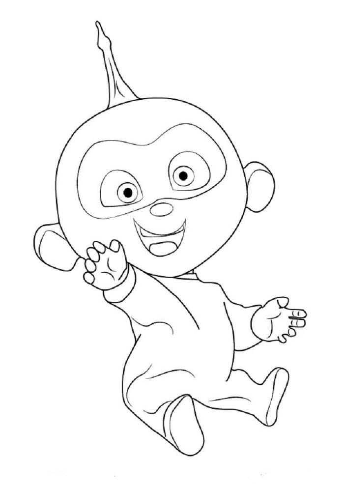 Incredibles Coloring Pages Jack Jack