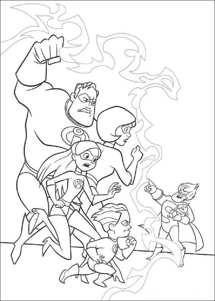 Incredibles Coloring Pages Pdf