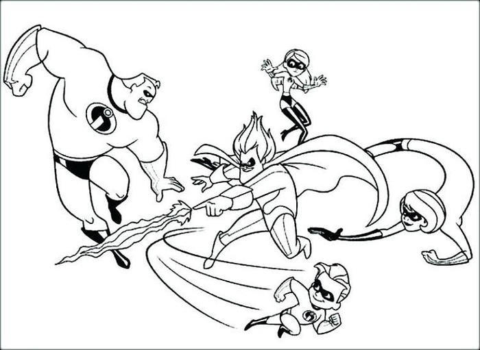 Incredibles Coloring Pages To Print