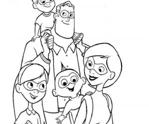 Incredibles family coloring pages