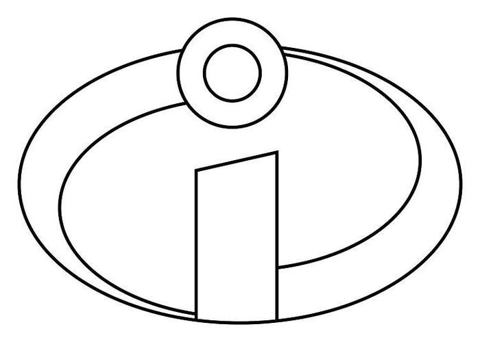 Incredibles Logo Coloring Pages