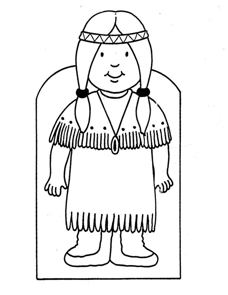 Indian Coloring Pages For Preschooler