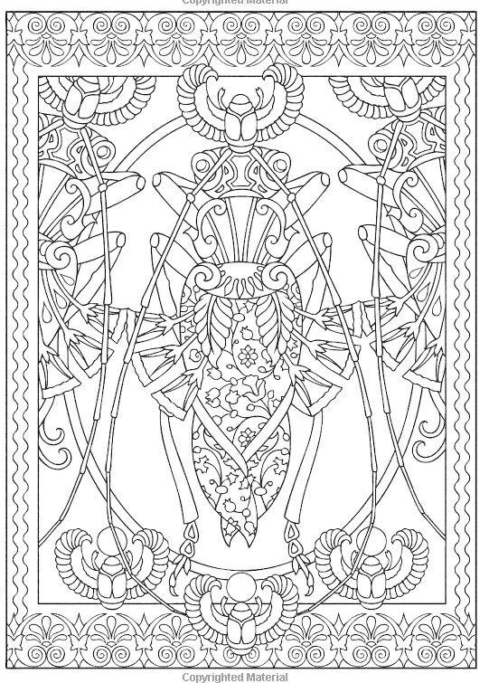 Insect Mandala Coloring Pictures