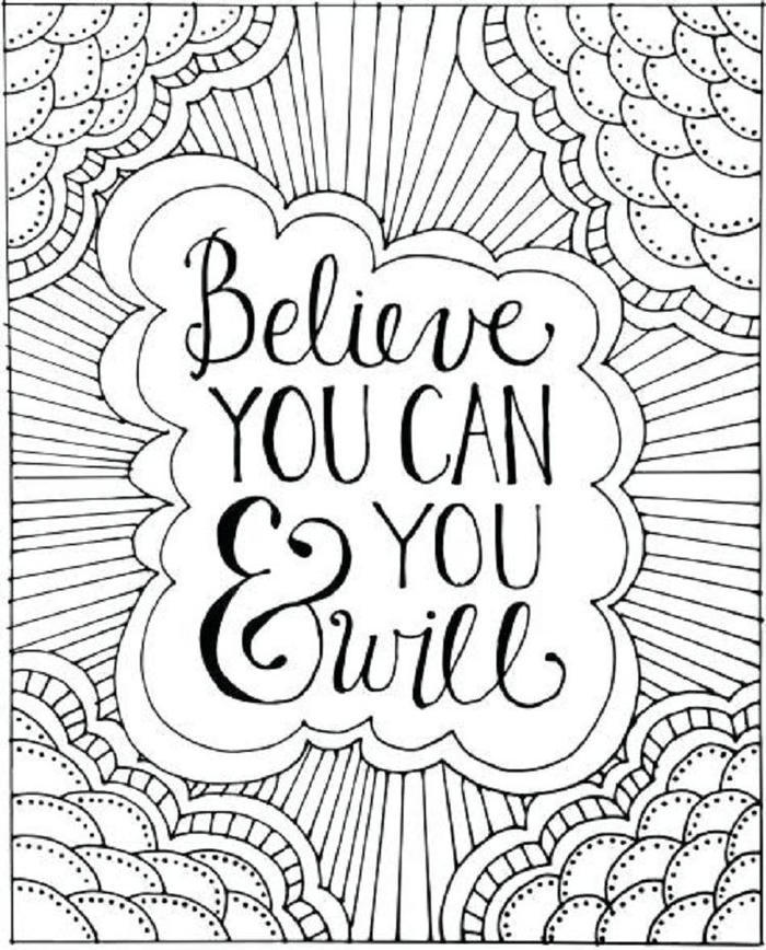 Inspirational Positivity Coloring Pages