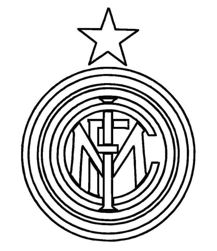 Inter Milan Logo Soccer Coloring Pages