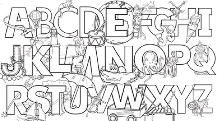 Interactive Alphabet Coloring Pages