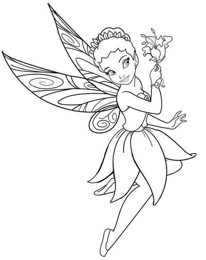 Iridessa Tinker Bell Coloring Pages