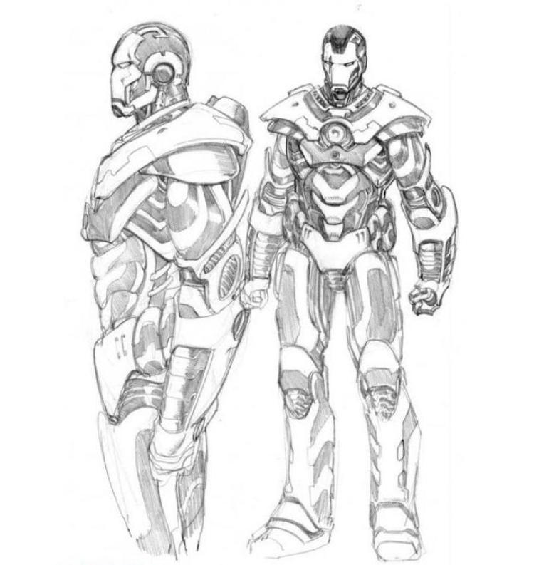 Iron Man 2 War Machine Coloring Pages