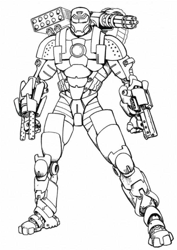 Iron Man Armored Adventures Coloring Pages
