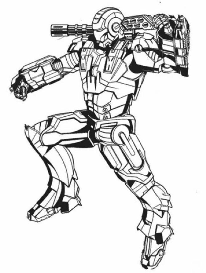 Iron Man Coloring Pages Hard