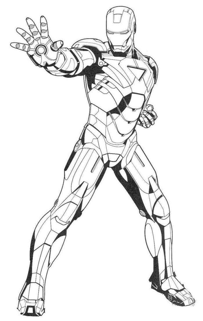 Iron Man Coloring Pages Heartbreaker