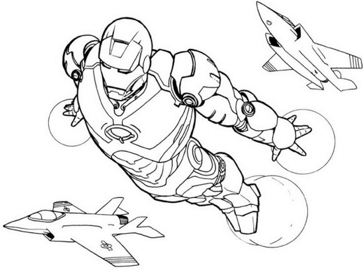 Iron Man Colouring Page To Print