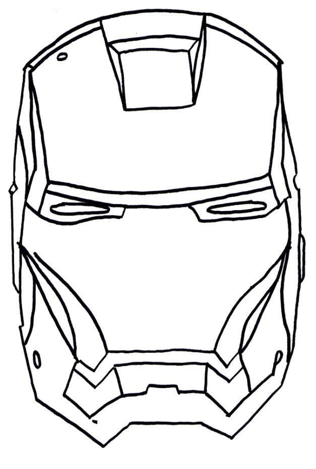 Iron Man Face Coloring Pages