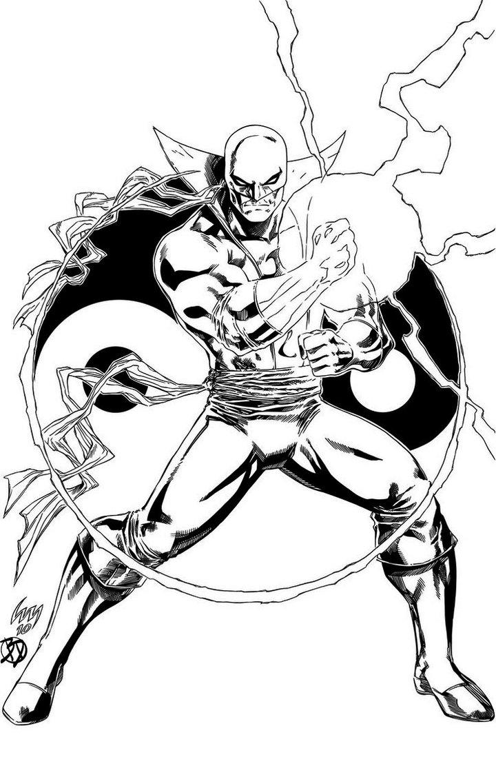 Iron Fist Coloring Pages For Boys
